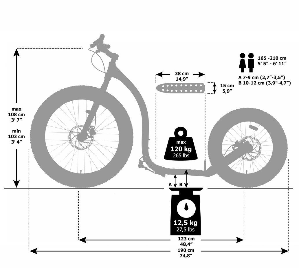 Maße-Kickbike-fat-max-black-schwarz-26-20-zol