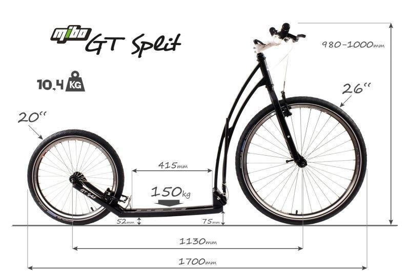 Maße-Tretroller-Mibo-GT-split