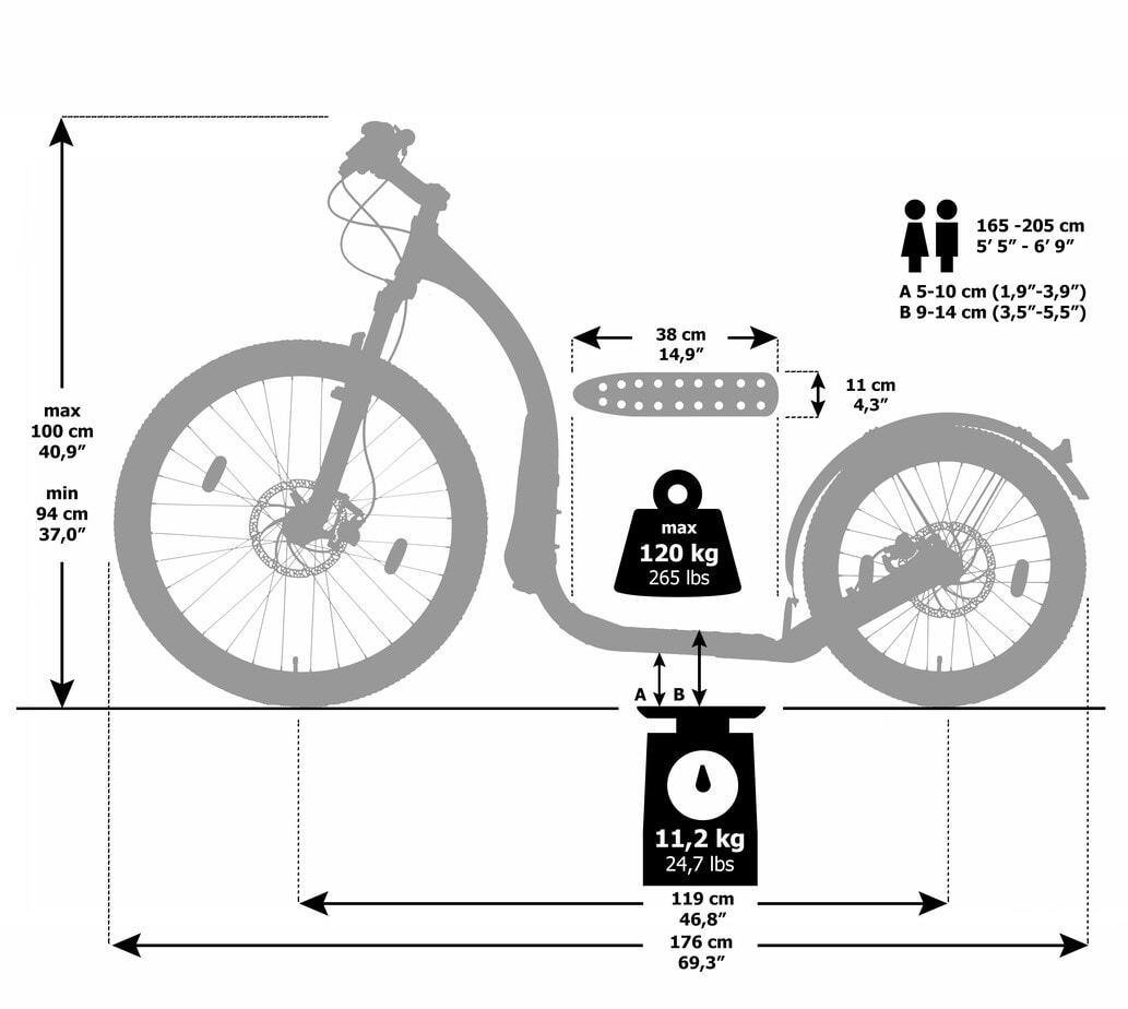 Maße_Kickbike-Cross MAX 20HD