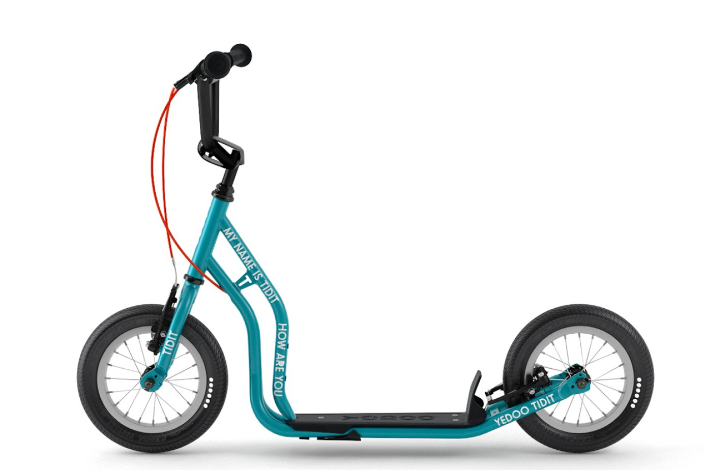 Extra Hupe V-Brake Felgenbremse Yedoo Scooter Tretroller Hurvinek Tidit Mini New 12//12 Zoll t/ürkis